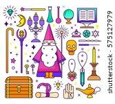 magic illustration. sparkle...   Shutterstock .eps vector #575127979
