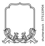 black and white frame with... | Shutterstock . vector #575133904