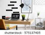 comfortable workplace in office | Shutterstock . vector #575137405