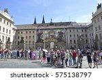 prague  czech republic   july... | Shutterstock . vector #575138797