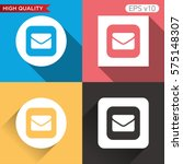 mail icon. button with mail...