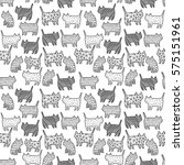 seamless pattern with funny... | Shutterstock .eps vector #575151961