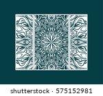 flyer laser cut a mandala. cut... | Shutterstock .eps vector #575152981
