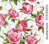 vintage floral background.... | Shutterstock .eps vector #575153551