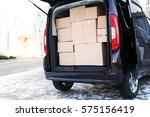 office moving concept. cartoon... | Shutterstock . vector #575156419