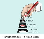 detail of a hand holding a red... | Shutterstock .eps vector #575156881