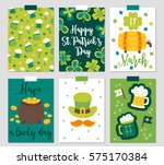 set of six st. patrick's day... | Shutterstock .eps vector #575170384