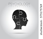 modern head puzzle logo of... | Shutterstock .eps vector #575175769