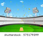 view of a cricket stadium in... | Shutterstock .eps vector #575179399