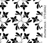 seamless black and white floral ... | Shutterstock . vector #57518062