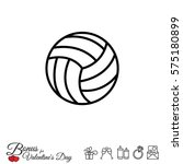 web line icon. volleyball | Shutterstock .eps vector #575180899