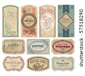 set of 10 ornate vintage labels ... | Shutterstock .eps vector #57518290