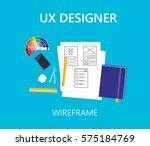 user experience development... | Shutterstock .eps vector #575184769