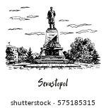 a monument to admiral nakhimov...   Shutterstock .eps vector #575185315