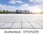 empty floor with modern... | Shutterstock . vector #575191255
