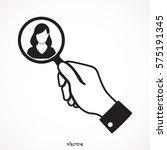 search women  verify on white... | Shutterstock .eps vector #575191345