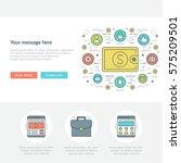 flat line business concept web... | Shutterstock .eps vector #575209501