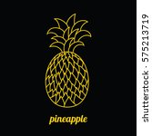 hand painted pineapple in the... | Shutterstock .eps vector #575213719