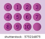 purple circle with numbers 0 to ...