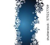 christmas border  snowflake... | Shutterstock . vector #575217709