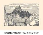 vector illustration of old town ...   Shutterstock .eps vector #575219419