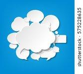 speech bubbles banner    Shutterstock . vector #575228635