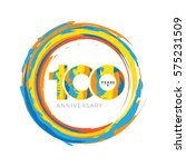 100 years anniversary abstract...   Shutterstock .eps vector #575231509