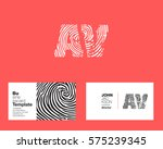 a   v letters logo with... | Shutterstock .eps vector #575239345