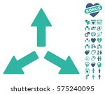 expand arrows pictograph with... | Shutterstock .eps vector #575240095