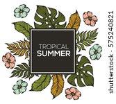 tropical summer banner template ...   Shutterstock .eps vector #575240821