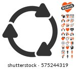 rotate cw pictograph with bonus ... | Shutterstock .eps vector #575244319