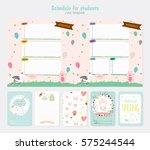 cute weekly planner template.....   Shutterstock .eps vector #575244544