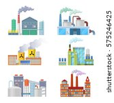industrial factory buildings... | Shutterstock .eps vector #575246425