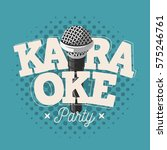 karaoke label sign design with... | Shutterstock .eps vector #575246761