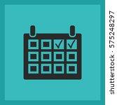 calendar vector icon. | Shutterstock .eps vector #575248297