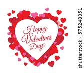 happy valentine's day greeting... | Shutterstock .eps vector #575248351