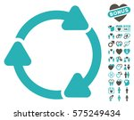 rotate cw icon with bonus love... | Shutterstock .eps vector #575249434