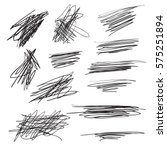 scribble brush strokes set ... | Shutterstock .eps vector #575251894