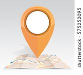 gps icon mock up orange color...   Shutterstock .eps vector #575252095