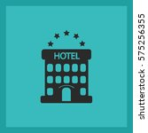 five star hotel. vector icon. | Shutterstock .eps vector #575256355