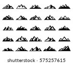 set of mountains | Shutterstock .eps vector #575257615