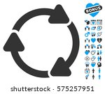 rotate cw icon with bonus... | Shutterstock .eps vector #575257951
