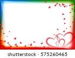 heart shape design for love... | Shutterstock .eps vector #575260465