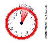 clock 5 minutes to go vector... | Shutterstock .eps vector #575262031