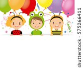 costume party card.children... | Shutterstock .eps vector #575266411