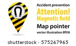 map pointer. attention ... | Shutterstock .eps vector #575267965