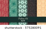vector set of various seamless... | Shutterstock .eps vector #575280091