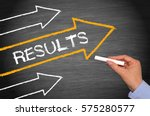 results   arrows with text and... | Shutterstock . vector #575280577