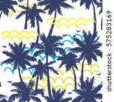 seamless pattern with palm...   Shutterstock .eps vector #575283169