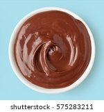 chocolate cream in round dish... | Shutterstock . vector #575283211